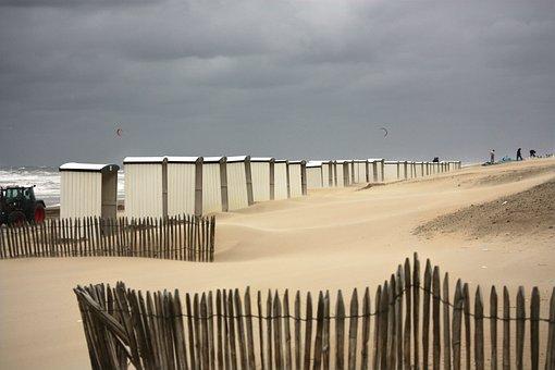 Beach Cabins, Beach Cottage, Cabins, Sea, Beach