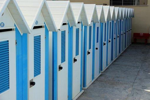 Cabins, Holidays, Cottage, Cabanas, Blue White