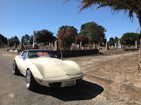 Corvette, Car, Corvette Stingray, Cemetery