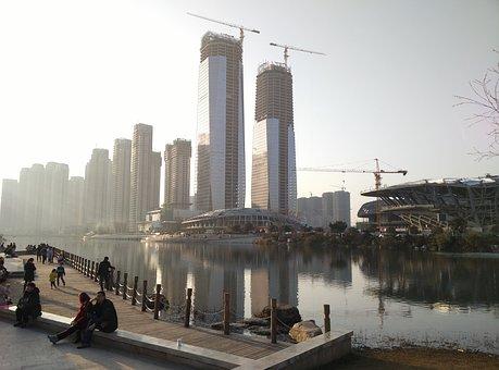 Changsha, Meixi Lake, Urban Architecture, China, City