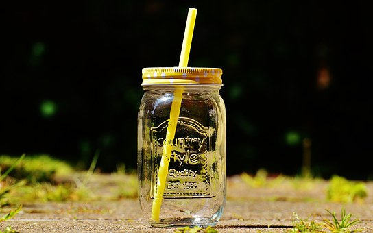 Drinking Glass, Summer, Color, Straw, Points, Lid