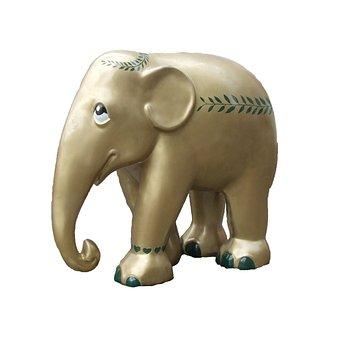 Elephant Parade Trier, Golden Elephant, Art