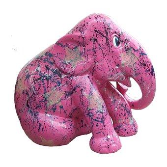 Elephant Parade Trier, Pink Elephant, Art