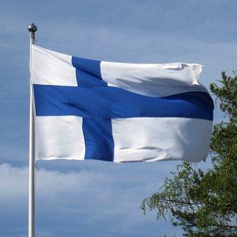 Flag Of Finland, Blue Cross Flag, Finnish, Flag, Nordic