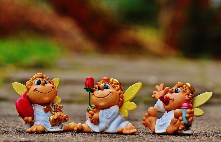 Angel, Guardian Angel, Heart, Rose, Valentine's Day