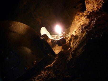 Cave, Cavers, Speleology, Helm, Light, Carbide, Lamp