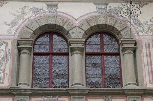 Window, Painted, Old, Historically, Slug Glass