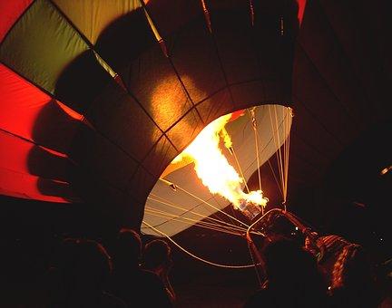 Balloon, Dawn, Fire, Hot Air Balloon