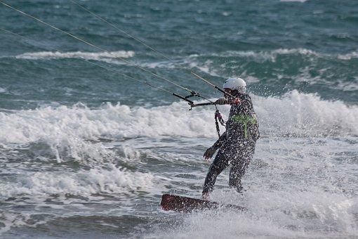 Kitesurfer, Kite Surfing, Kiters, Kitesurfing