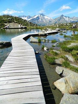Lake, Mountains, Pleso, Dolomites, Klaussee, Italy