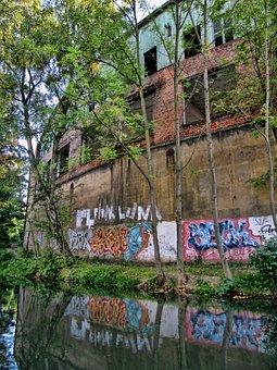 Leipzig, Karl Heine Canal, House, Water, River