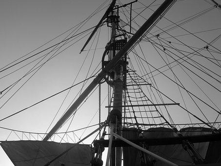 Sailboat, Marseille, Port, Three-masted, France