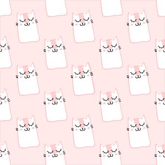 Pattern, Pink, Cute, Sweet, Fur, Cats, Fluffy Cat, Pets