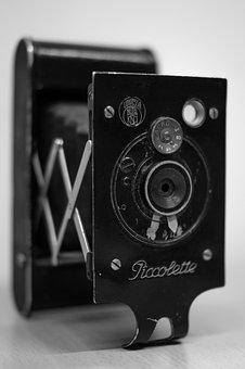 Piccolette, Photography, Camera, Vintage, Folding