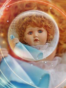 Collector's Doll, Angel, Guardian Angel, Ball, Sad