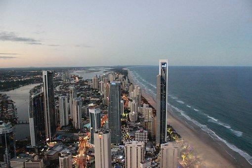 The Sea, Tall Buildings, Seaside, Gold Coast