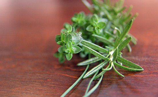 Herbs, Rosemary, Parsley, Thyme, Chives, Cooking
