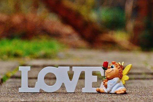 Angel, Guardian Angel, Rose, Valentine's Day, Love