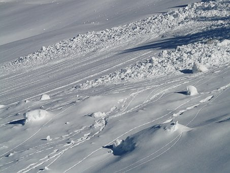 Avalanche, Avalanche Cone, Snow, Wintry, Deep Snow