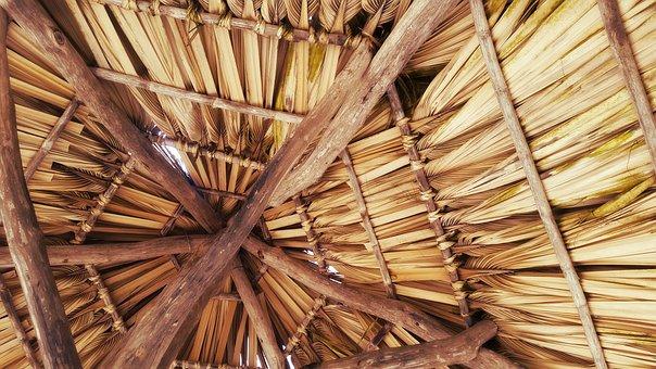 Beach Hut, Hut, Roof, Wood