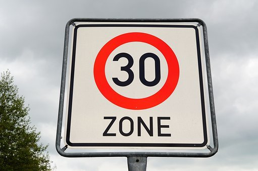 Zone 30, Road Sign, Prohibition Signs