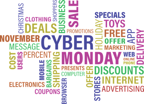 Words, Wordcloud, Cloud, Cyber Monday, Sale, Story, Buy