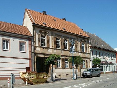 House, Building, Container, Hockenheim, Construction
