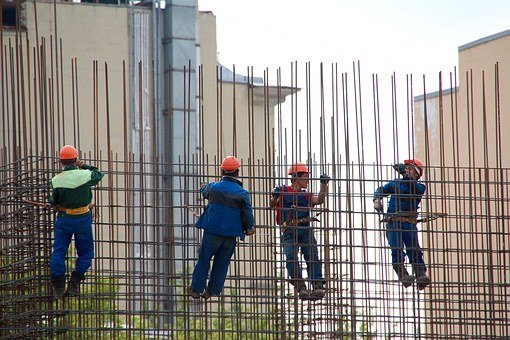 Steelworkers, Concrete, Formwork, Construction Workers