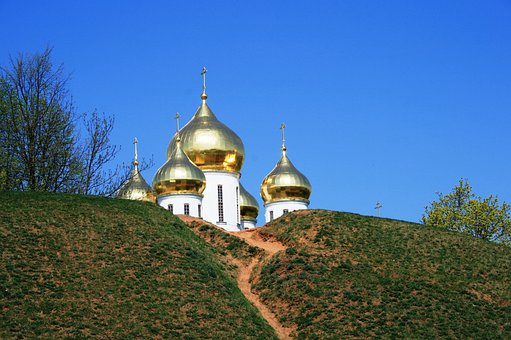 Domes, Gold, Bright, Shiny, Striking, Towers, White