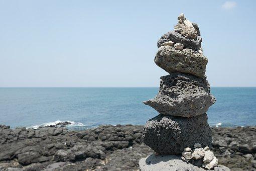 Jeju Island, Landscape, Sea, Jeju, Jeju Sea, Stone
