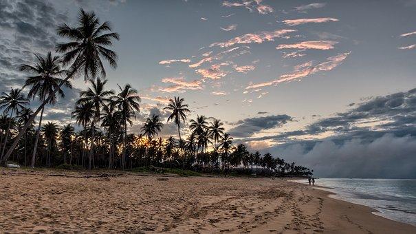 Beach, Sunset, Sunset Beach, Sky, Sand, Sea, Vacation