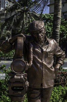 Statue, Camera, Sculpture, Yash, Chopra, Bollywoood