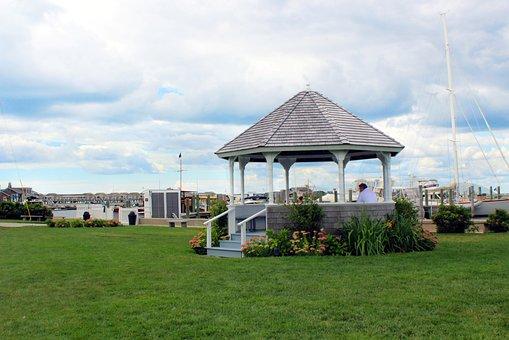 Gazebo, Watch Hill, Westerly, Rhode Island, Boats