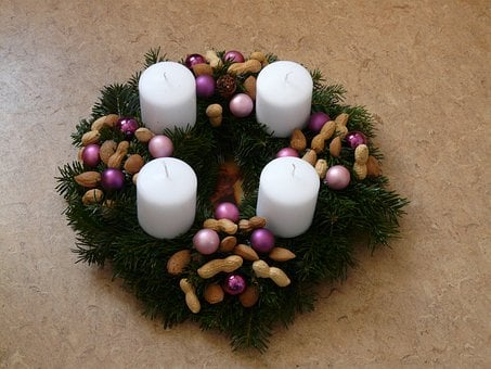 Advent Wreath, Candles, Christmas, Advent, Arrangement