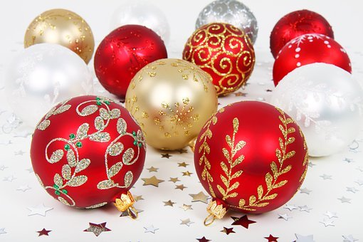 Background, Ball, Bauble, Christmas, Decoration, Golden