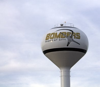 Midwest City, Oklahoma, Bombers, Water Tower, Water