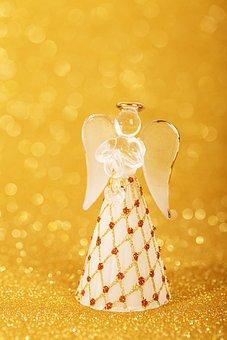 Angel, Golden, Celebration, Christmas, Decoration
