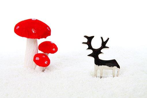 Metal, Mushroom, Celebration, Christmas, Decoration