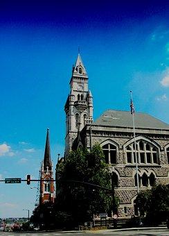 Church, Nashville, Tn, Usa, City, Downtown, Cityscape