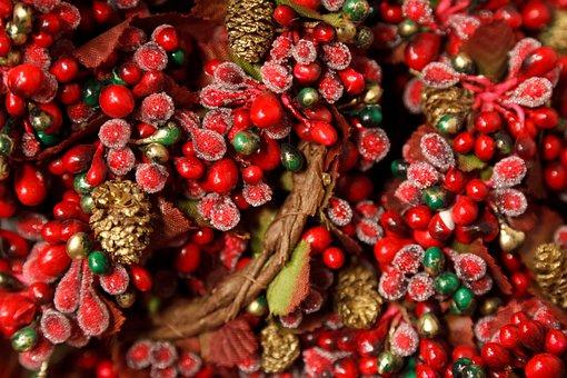 Background, Berry, Christmas, Color, Decor, Decoration