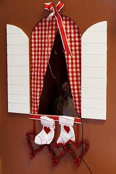 Christmas, Decoration, Holiday, Santa, Sock, Stocking