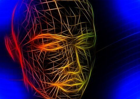 Head, Wireframe, Face, Lines, Wave, Web, Network