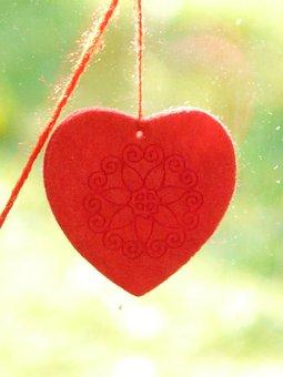 Heart, Felt, Window Decorations, Decoration, Deco