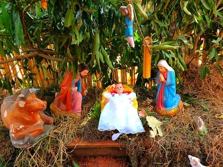 Christmas, Figures, Decoration, Baby Jesus, Xmas