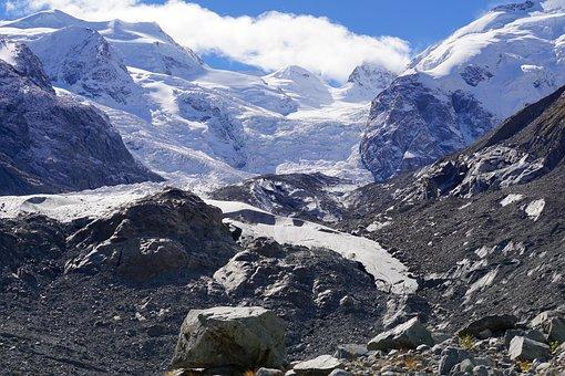 Mountains, Glacier, Alpine, Snow, Nature, Massif