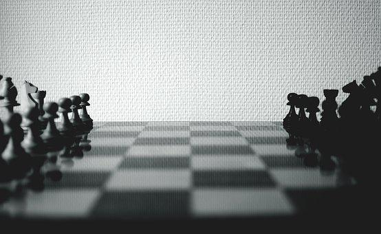 Chess Board, Chessboard, Black And White, Guitar