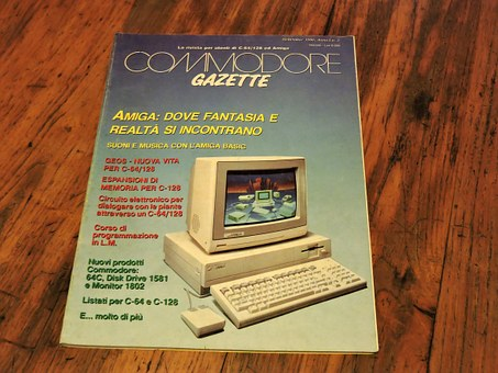 Magazine, Vintage, Informatica, Old, Commodore