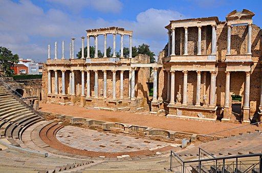 Merida, Extremadura, Hispania Roma, Theatre, Theaters