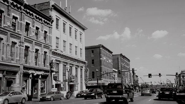 Nashville, Tn, Usa, City, Downtown, Cityscape