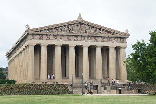 Parthenon, Park, Architecture, Centennial Park